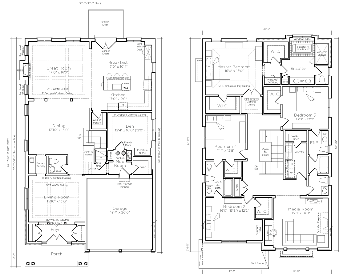 Floor Plan for Imperial Estate, a premium Estate Home at Crown Collection